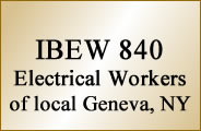 IBEW 840 Electrical Workers of local Geneva, NY